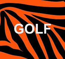GOLF Zebra (iPod/iPhone Case) by YungFly413
