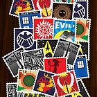 Nerd&#x27;s Stamp Collection: Scattered by mcgani
