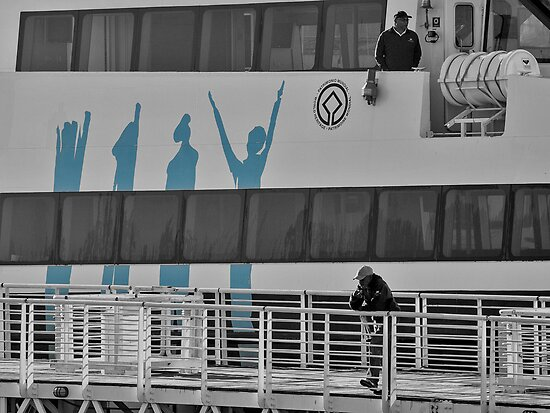 The ferry to Robben island by awefaul