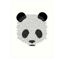 101st panda Art Print