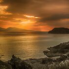 Sunset over Lismore Island by Fe Messenger