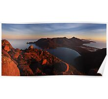 Evening Glow over Wineglass Bay - Frecinet Peninsula Poster