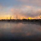 Sunrise over the lake. by Rudi Venter