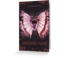Jurassic Park alt Movie Poster Greeting Card