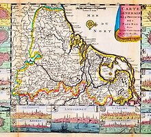 1710 De La Feuille Map of the Netherlands Belgium and Luxembourg Geographicus 17Provinces laveuille 1710 by Adam Asar