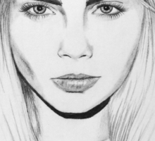 Cara Delevingne Drawing Sticker