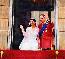 Prince william and his wife kate by sigoisette