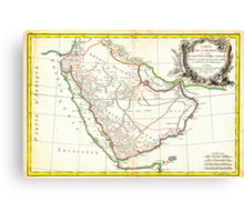 1771 Bonne Map of Arabia Geographicus Arabia bonne 1771 Canvas Print