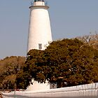 Ocracoke Lighthouse of NC by Sandy Woolard