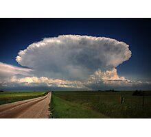 Storm clouds over Saskatchewan  Photographic Print