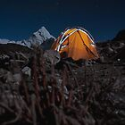 High Camp In Nepal by Johan nordholm