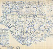 Bicycle Map of Wisconsin (1897) by Adam Asar