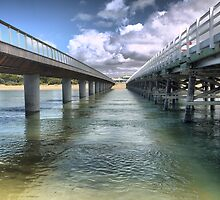 Barwon Heads (2)  A Perspective on Bridges from below. by Larry Lingard/Davis
