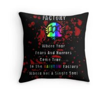 Rainbow Factory  Throw Pillow