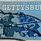 1963 Gettysburg Civil War Stamp by DrBillCreations