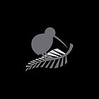 Kiwi Bird and a Silver fern New Zealand  by jazzydevil