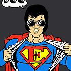 Superman Spoof Super Elvis Presley  by Creative Spectator