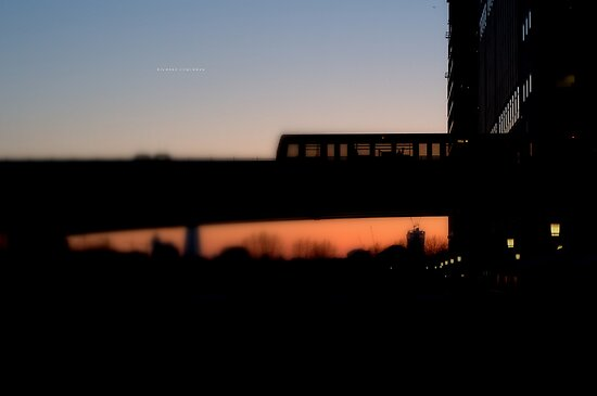 """ Evening Train Home "" by Richard Couchman"