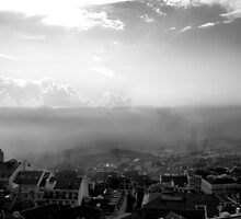 Lisbon - sea fog by thefifthAce