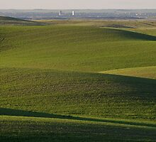 Rolling hills with distant Moose Jaw seen by pictureguy