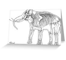 Skelephant Greeting Card