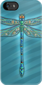 Dragonfly on Blue by Zdenek Sasek