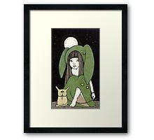 My Little Green Eyed Monster Framed Print