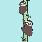 Three Toed Sloths by zoel