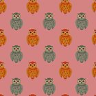 Retro Owls Case by Jenifer Jenkins