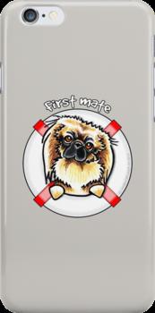 Pekingese :: First Mate by offleashart