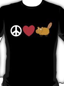 Peace Love Beaver T-Shirt