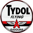 Tydol Flying Gasoline vintage sign Crystal clear by htrdesigns
