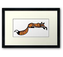 Sleeping Red Fox Framed Print