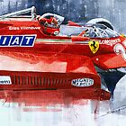 Ferrari 126C Silverstone 1981 British GP Gilles Villeneuve by Yuriy Shevchuk