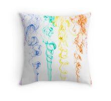 Rainbow Smoke 2 Throw Pillow