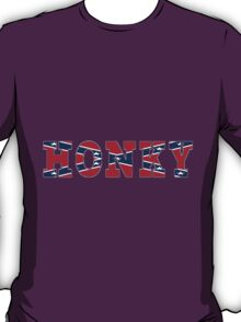 BOLD AND RAW CONFEDERATE FLAG HONKY T-SHIRT AND STICKER. T-Shirt