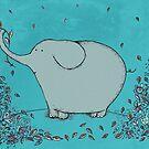 Flower Garden Elephant by Carla Martell