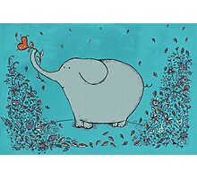 Flower Garden Elephant Photographic Print