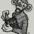 Monkey Laughing At Bible by Brett Gilbert