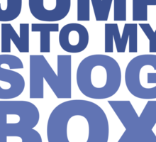 Snog Box (Tardis) Sticker