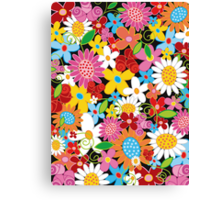 Colorful Spring Flowers Garden Canvas Print