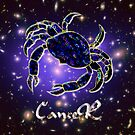 Zodiac sign Cancer iPad case by Dennis Melling