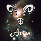 Zodiac sign Aries iPad case by Dennis Melling