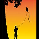 Childhood dreams, The Kite. Phone Case by John Edwards
