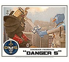 "Danger 5 Lobby Card #4 - ""Danger Damage"" Photographic Print"