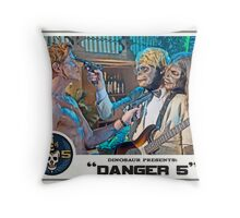"Danger 5 Lobby Card #7 - ""Yeah, let's pop him"" Throw Pillow"