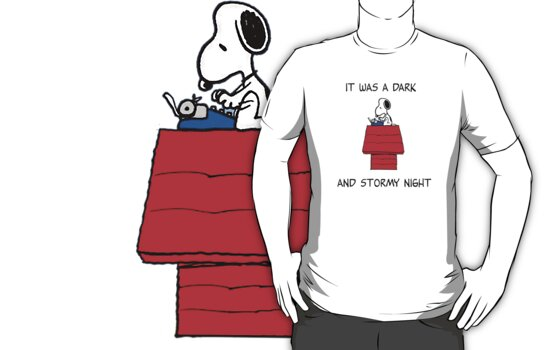 Snoopy - It was a dark and stormy night by LanFan