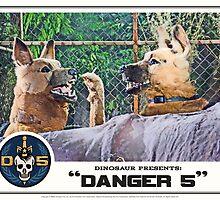 "Danger 5 Lobby Card #11 - ""Hast du feuer mein liebe?"" by dinostore"