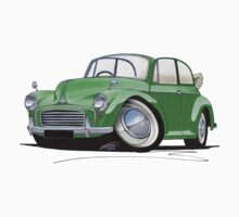 Morris Minor Convertible Green by Richard Yeomans
