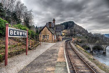 Berwyn Railway Station by Adrian Evans